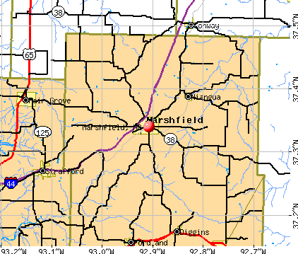 Marshfield, MO map