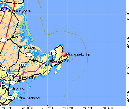 Rockport, MA map