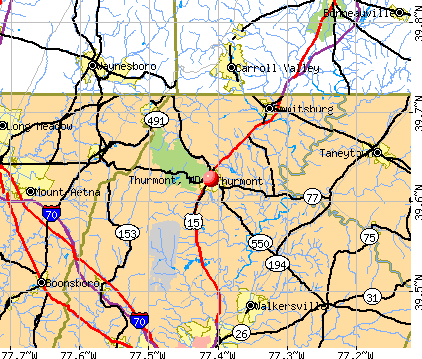 Thurmont, MD map
