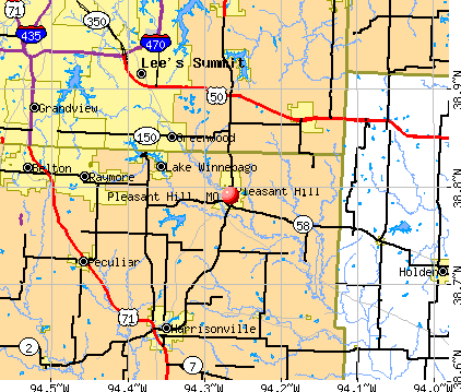 Pleasant Hill, MO map