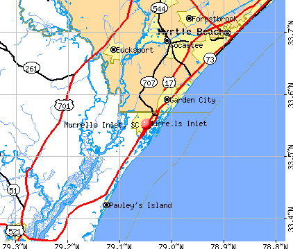 Murrells Inlet, SC map
