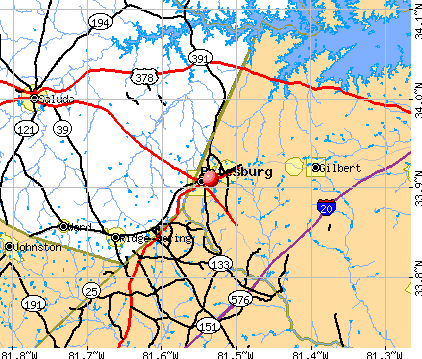 Batesburg-Leesville, SC map