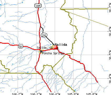 Salida, CO map