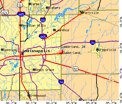 Cumberland, IN map