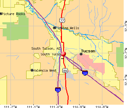 South Tucson, AZ map