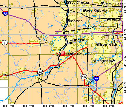 Montgomery, IL map