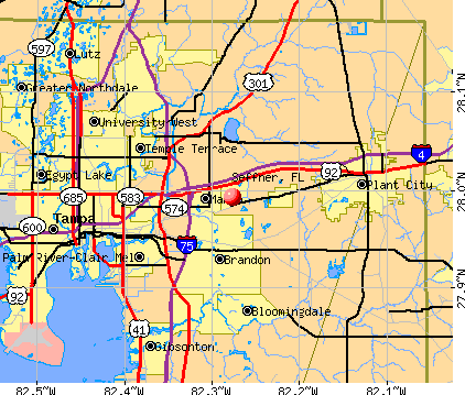 Seffner, FL map