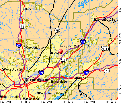 Grayson Valley, AL map
