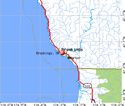 Brookings, OR map