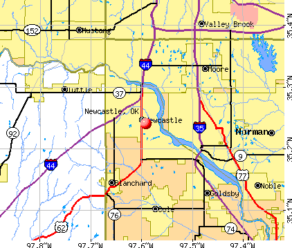 Newcastle, OK map