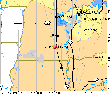 Gridley, CA map