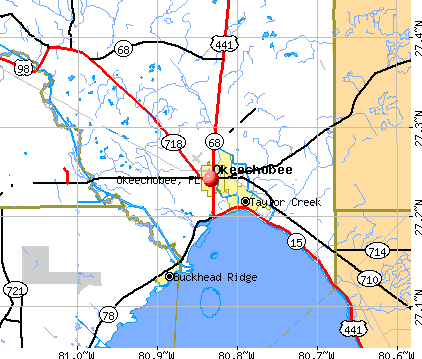 Okeechobee, FL map