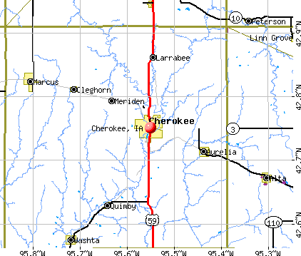 Cherokee, IA map