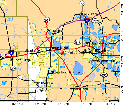Crystal Lake, FL map