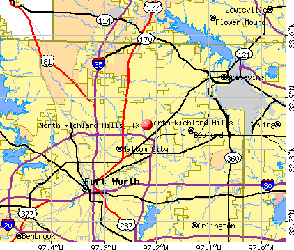 North Richland Hills, TX map