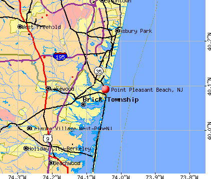 Point Pleasant Beach, NJ map