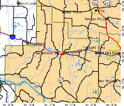 Warrenton, MO map