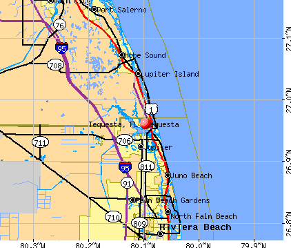 Tequesta, FL map