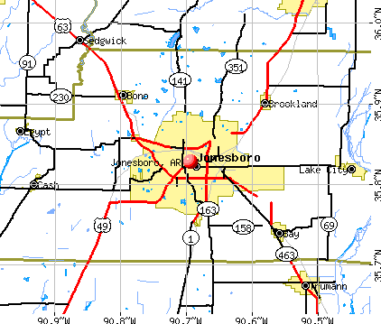 Jonesboro, AR map