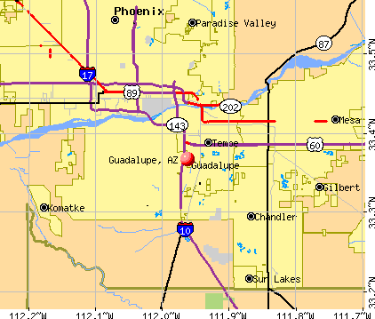 Guadalupe, AZ map