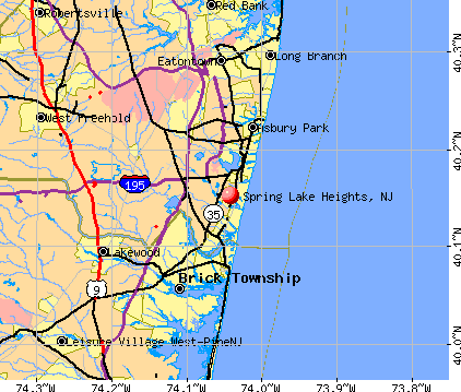 Spring Lake Heights, NJ map