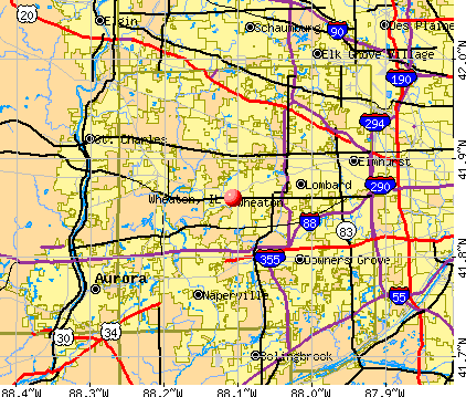 Wheaton, IL map