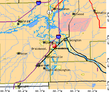 Braidwood, IL map