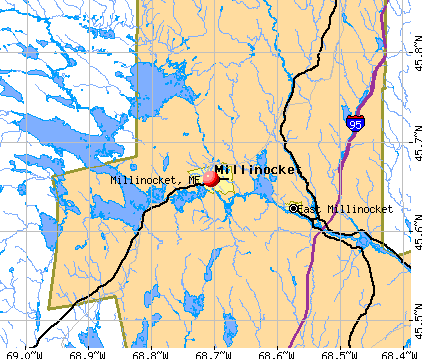 Millinocket, ME map