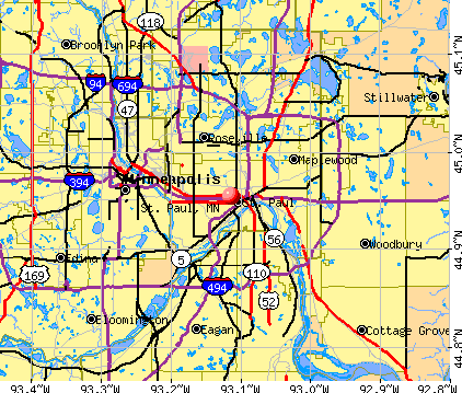 map of gang territory st paul minnesota maps