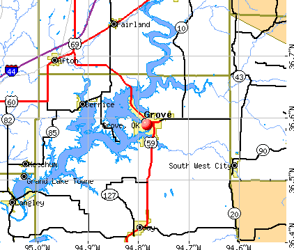 Grove, OK map