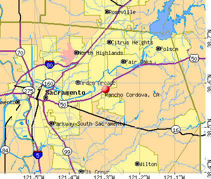 Rancho Cordova, CA map