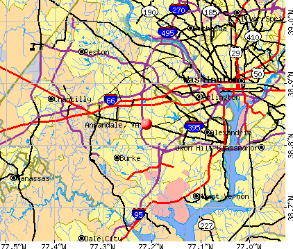 Annandale, VA map