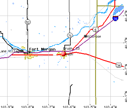 Brush, CO map