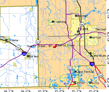 Swartz Creek, MI map