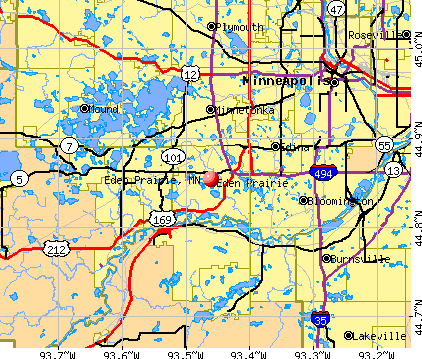 Eden Prairie, MN map