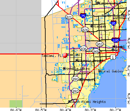 Tamiami, FL map