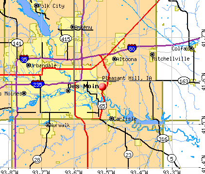 Pleasant Hill, IA map