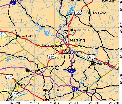 Shillington, PA map