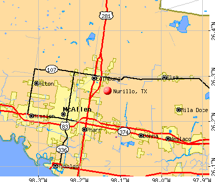 Nurillo, TX map