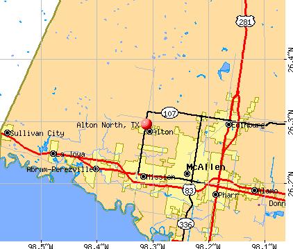 Alton North, TX map