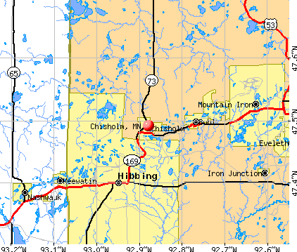 Chisholm, MN map