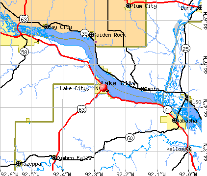 Lake City, MN map