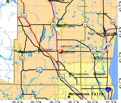 Jackson, WI map