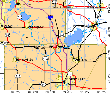 Edgerton, WI map