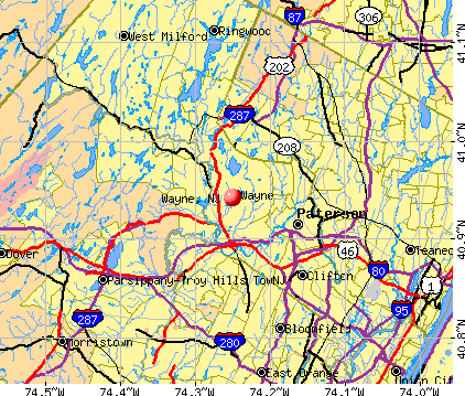 Wayne, NJ map