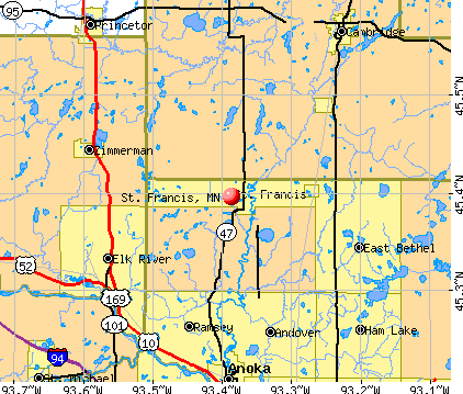 St. Francis, MN map