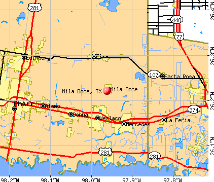 Mila Doce, TX map