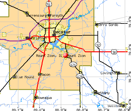 Mount Zion, IL map