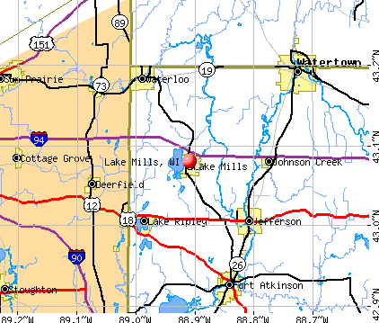 Lake Mills, WI map