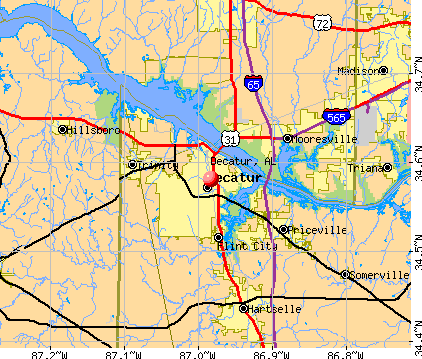 Decatur, AL map